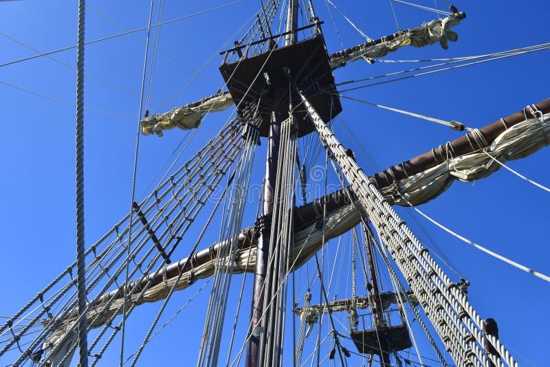 高帆柱的船 免版税库存图片