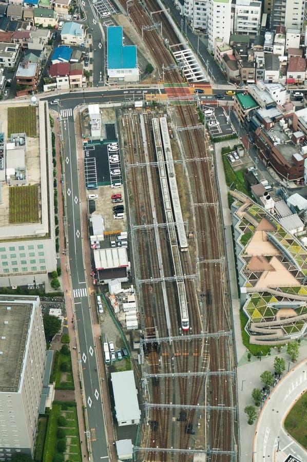 从高度的城市风景 免版税库存照片