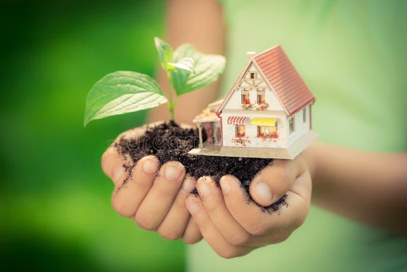 高度详述的房子例证结构树 库存照片