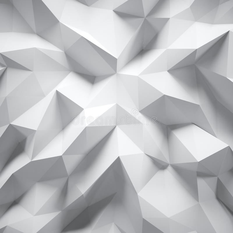 高度详细的白色多角形照片  白色几何弄皱的三角低多样式 抽象梯度图表 皇族释放例证