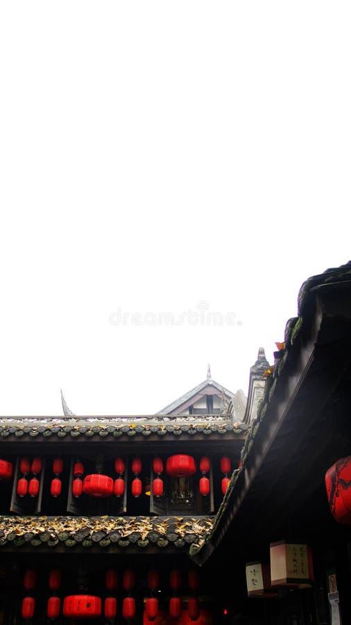 高房子在都江堰 库存照片