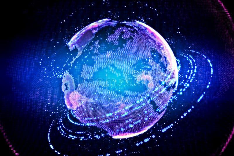高技术地球 库存图片