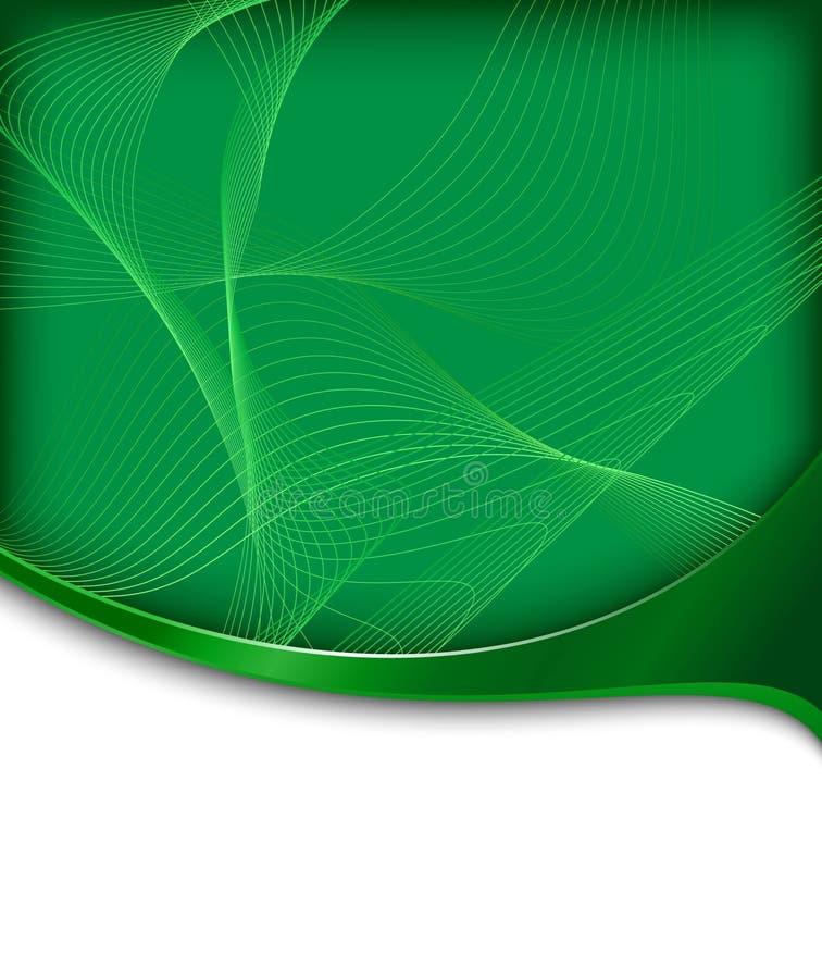 高技术抽象横幅绿色 向量例证