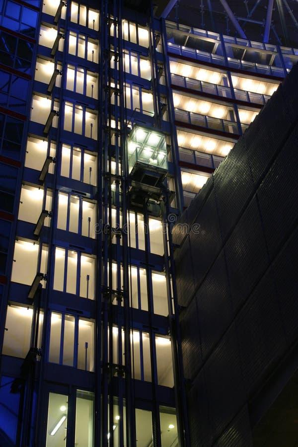 高技术电梯 库存照片