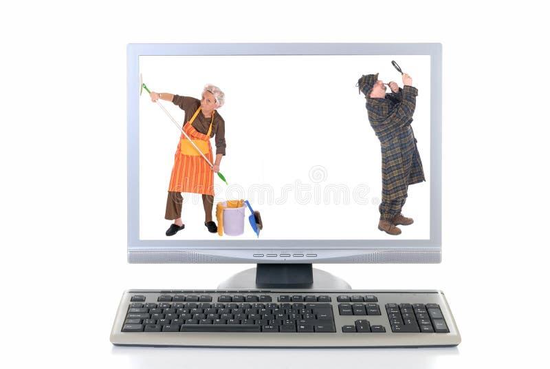高技术计算机 库存照片
