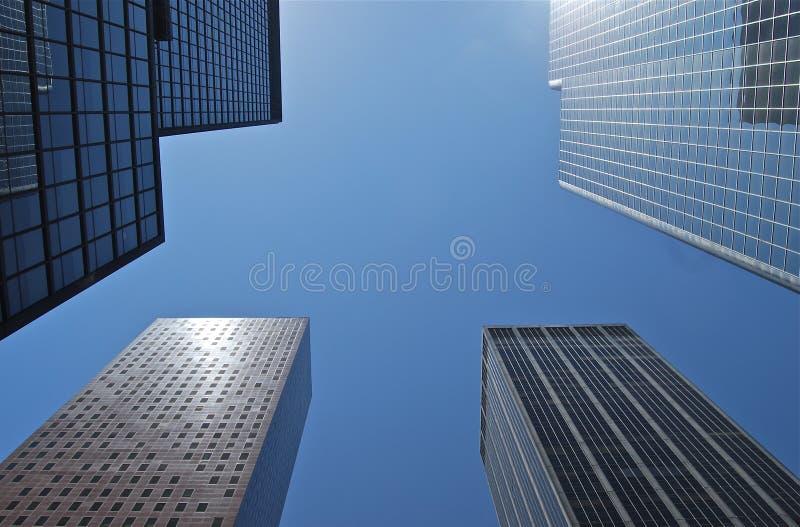 高摩天大楼的看法在纽约。 免版税库存图片