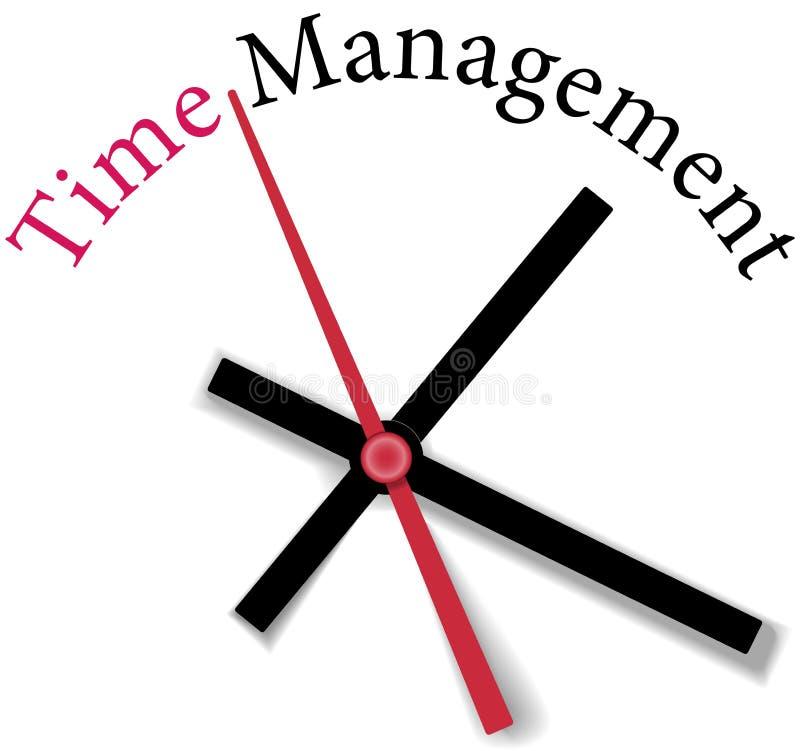 高效率的时间安排时钟工作 库存例证