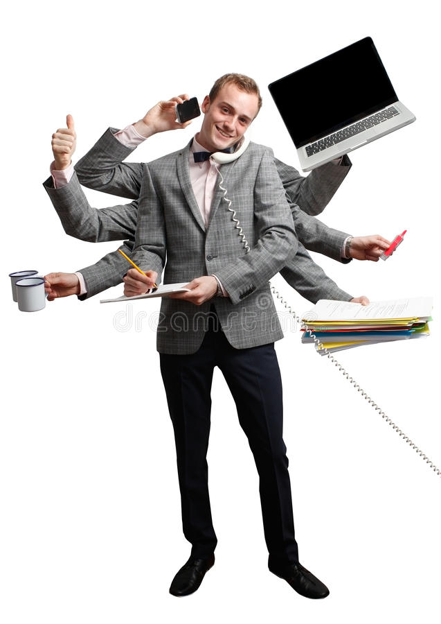 高效的员工 免版税图库摄影