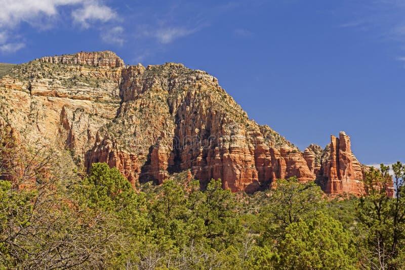 高昂峭壁在沙漠 免版税库存照片