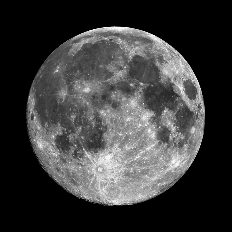 高月亮解决方法 图库摄影