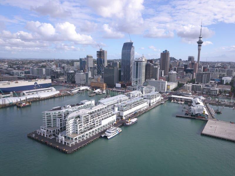 高架桥港,奥克兰/新西兰 免版税库存照片