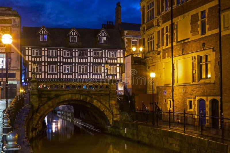 高桥梁在林肯,英国 免版税库存图片