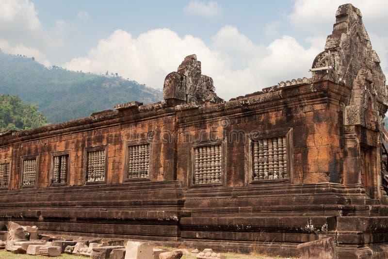 高棉老挝phu寺庙wat 库存图片