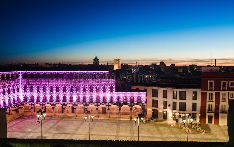 高正方形,巴达霍斯,西班牙广场亚尔他 库存照片
