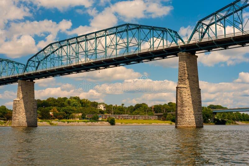 高步行桥 库存照片