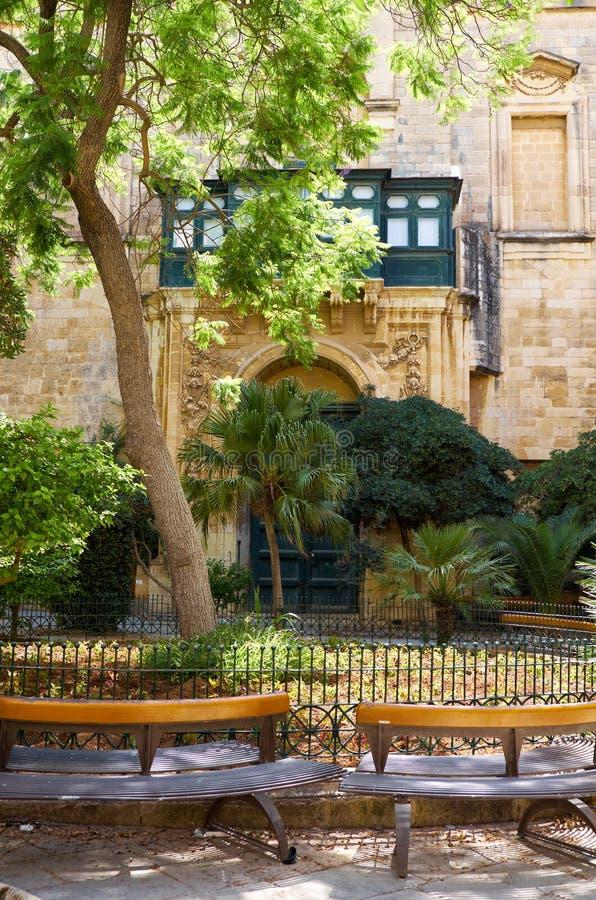 高段棋手` s宫殿的阿尔弗莱德王子` s庭院 瓦尔 库存照片