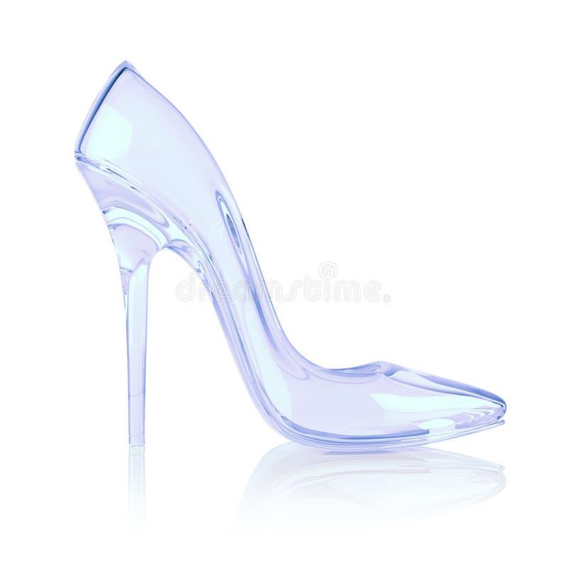 高水晶的脚跟 库存例证