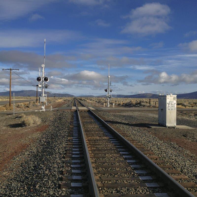 高沙漠铁路 免版税库存图片