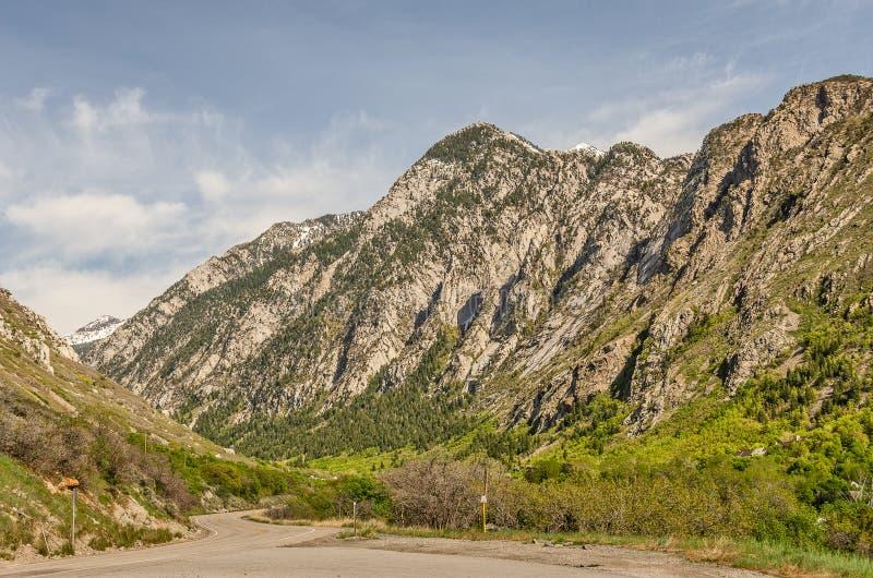高海拔山在犹他 库存照片