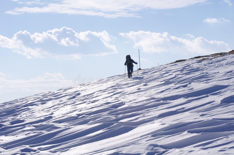 高涨在山,保加利亚的冬天 免版税库存照片