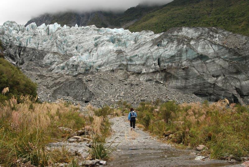 高涨谷的冰川 免版税图库摄影