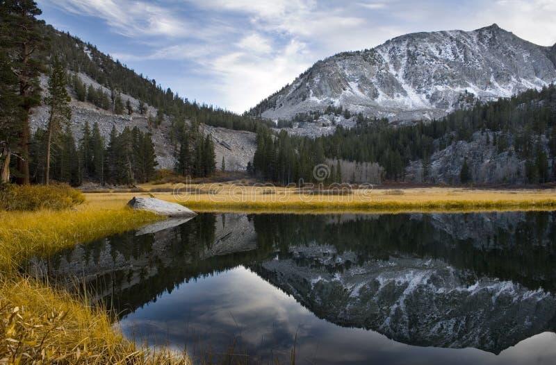 高湖山风景山脉 库存图片