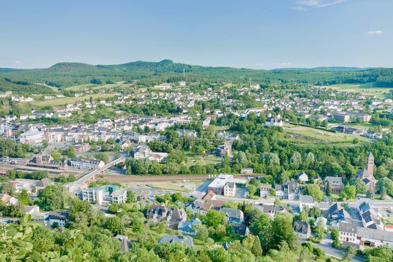 高潮德国gerolstein温泉城镇 免版税库存照片