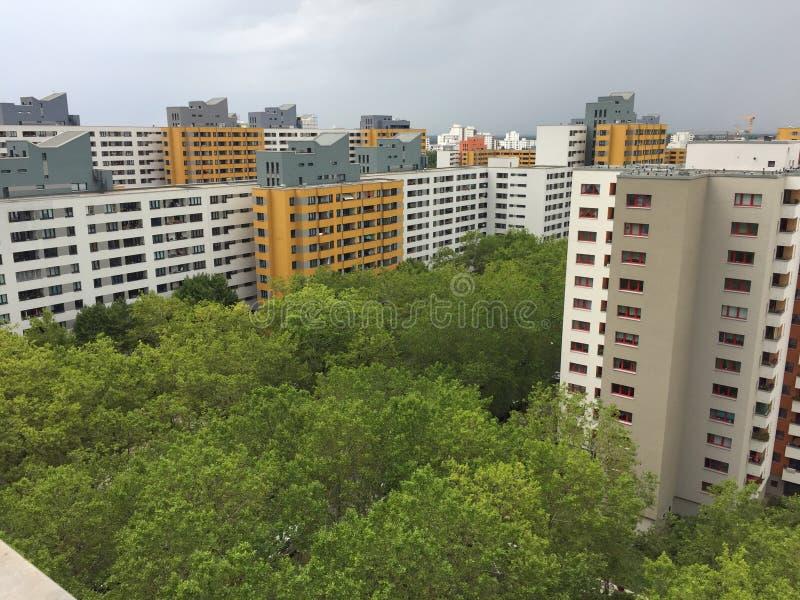 高现代大厦在东柏林,德国 免版税库存图片