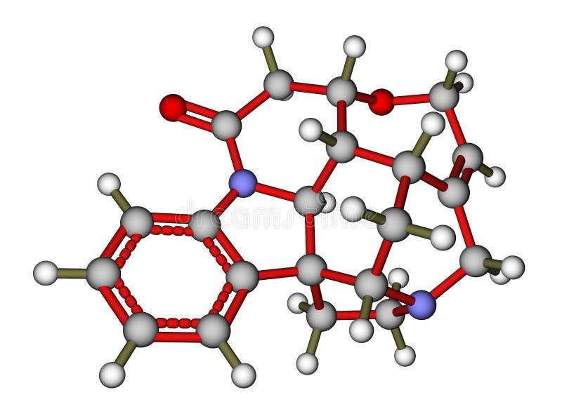 高生物碱番木鳖碱含毒物 库存例证