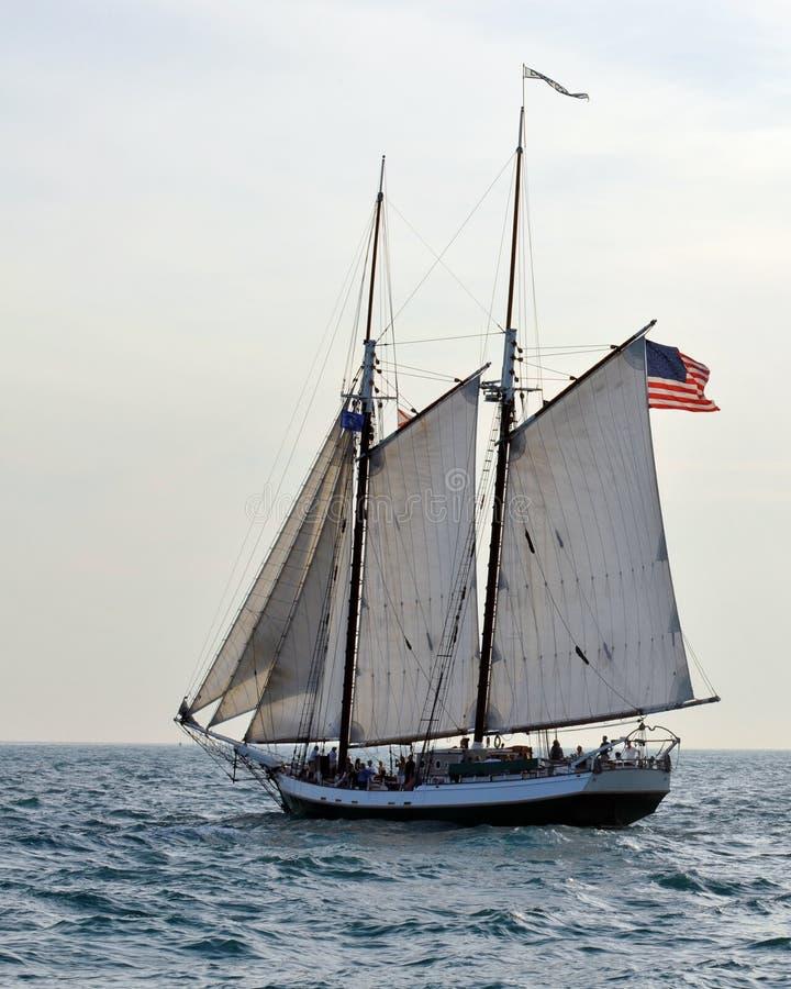 高的帆船 库存图片