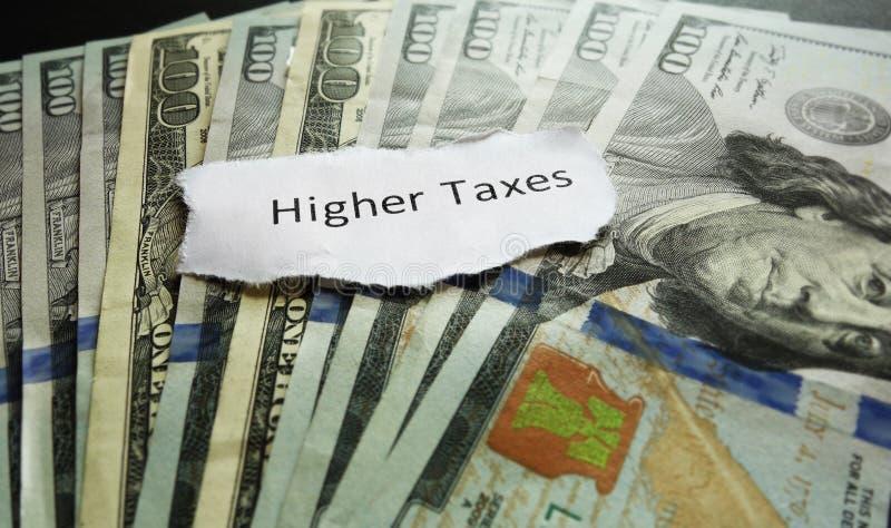 更高的税金 免版税图库摄影