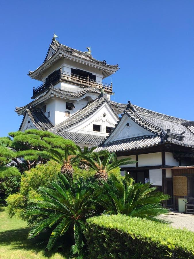 高知城堡的看法在Shinkoku海岛,日本上的 免版税库存照片