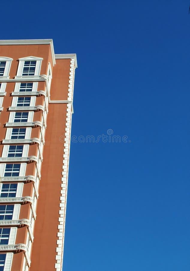 高砖的旅馆 库存图片