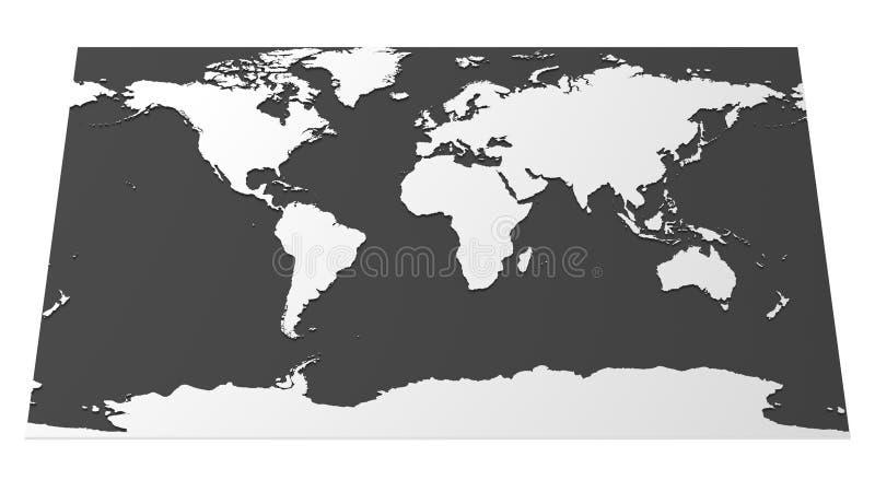高科技世界地图 免版税库存照片