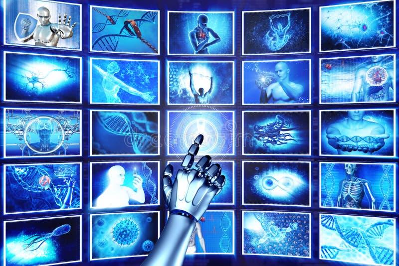 高科技屏幕 皇族释放例证