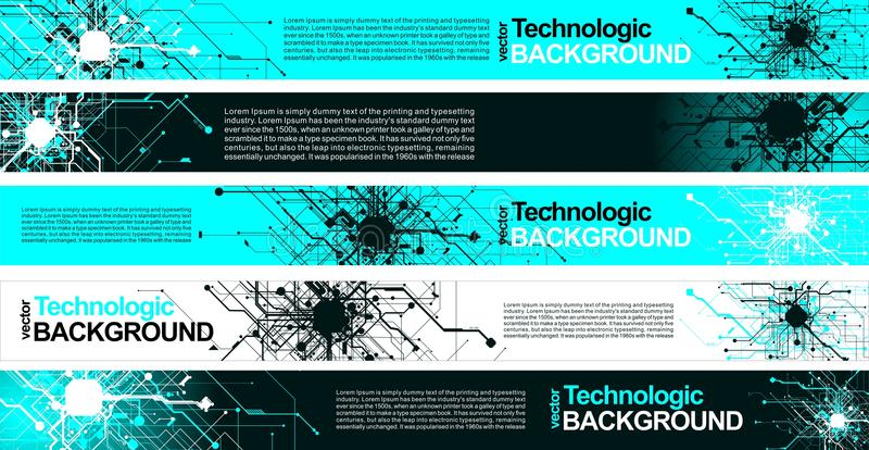 高科技技术absract背景计算机国际庞克科学幻想小说样式 皇族释放例证
