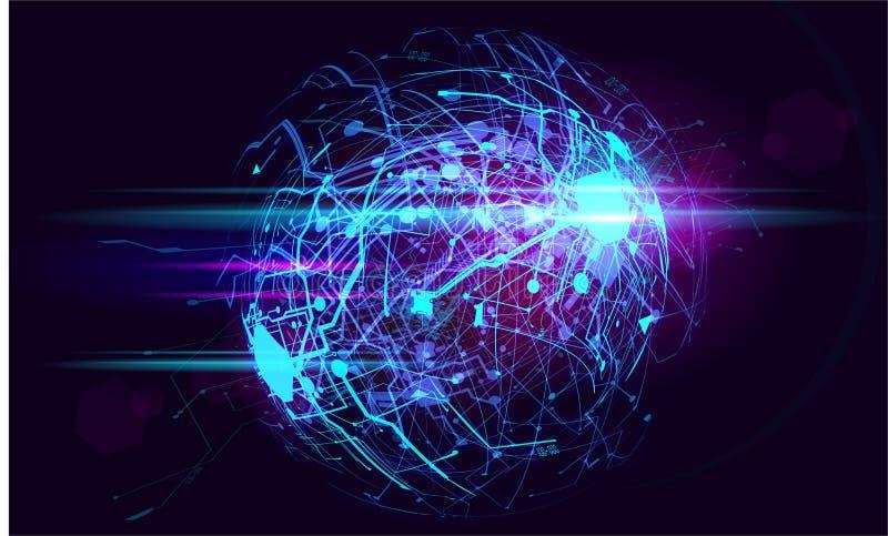 高科技电路意想不到的absract背景计算机国际庞克网络薪水 免版税库存图片