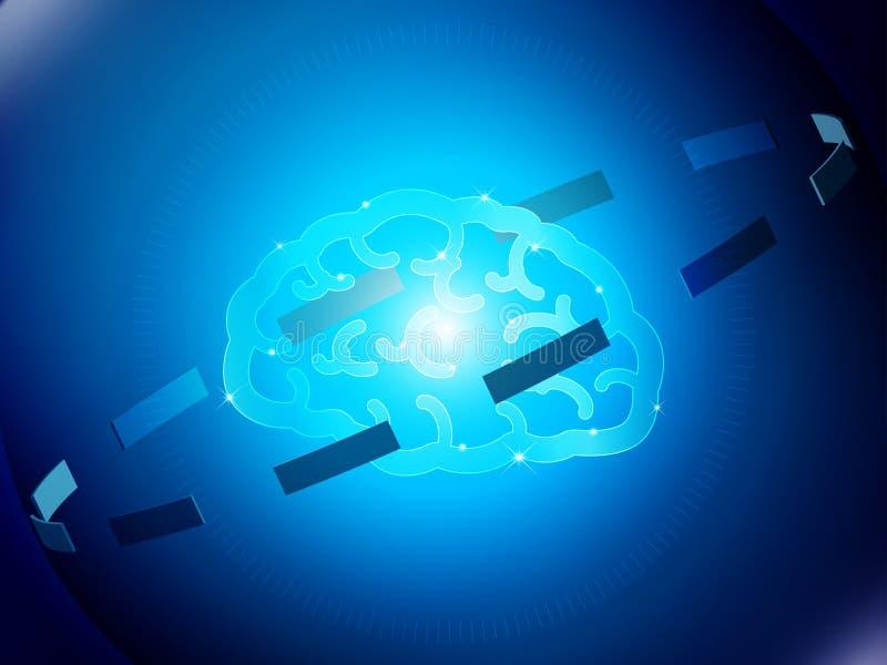 高科技的脑子 库存例证