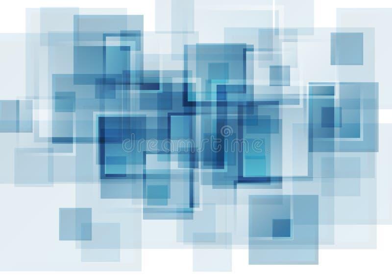高科技蓝色抽象背景 皇族释放例证