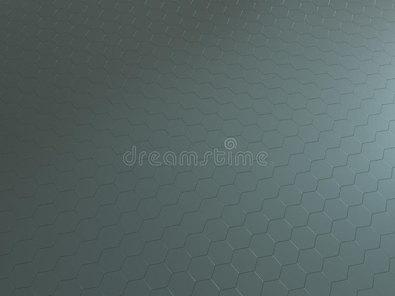 高科技3D回报了六角金属背景反射了表面 皇族释放例证