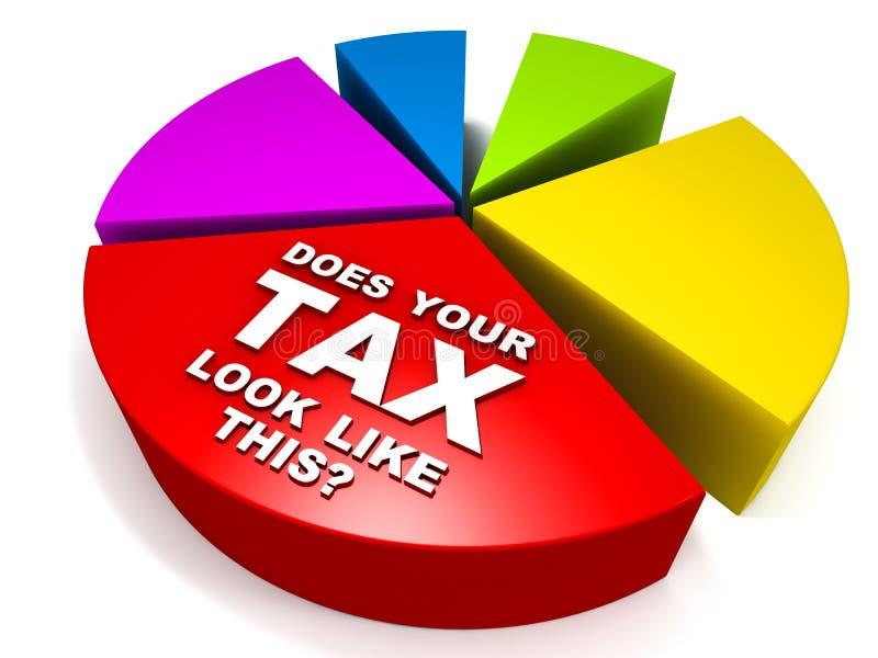 高税金 库存例证