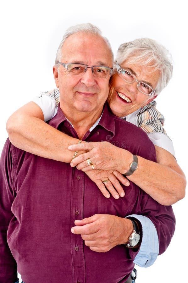 高级夫妇 免版税库存图片