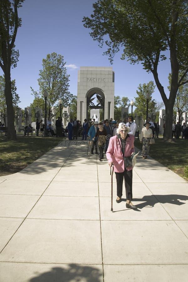 高级妇女退伍军人 免版税库存照片