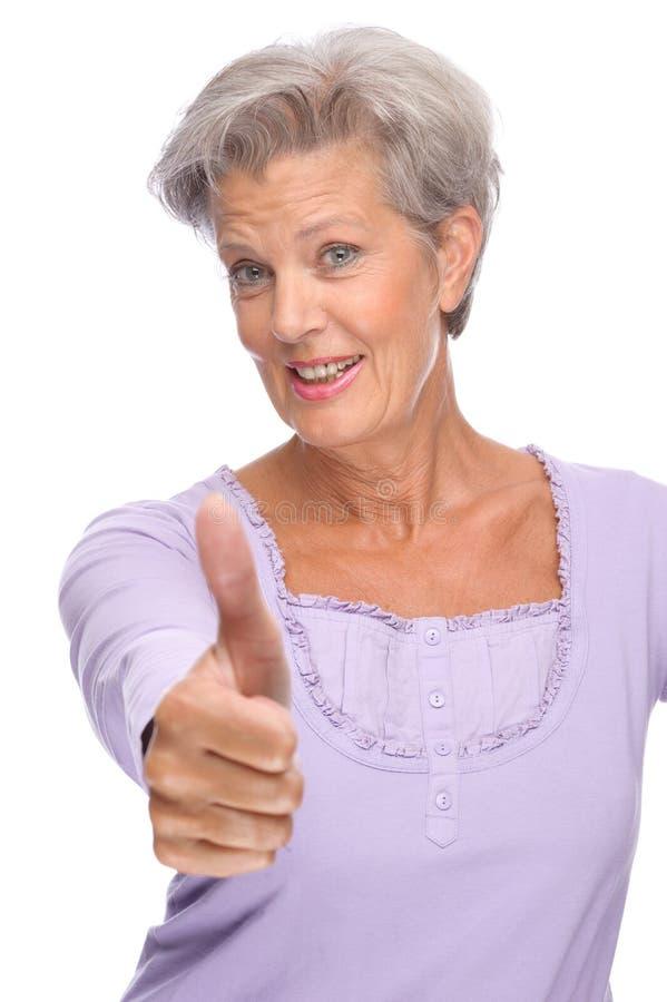 高级妇女 免版税库存图片