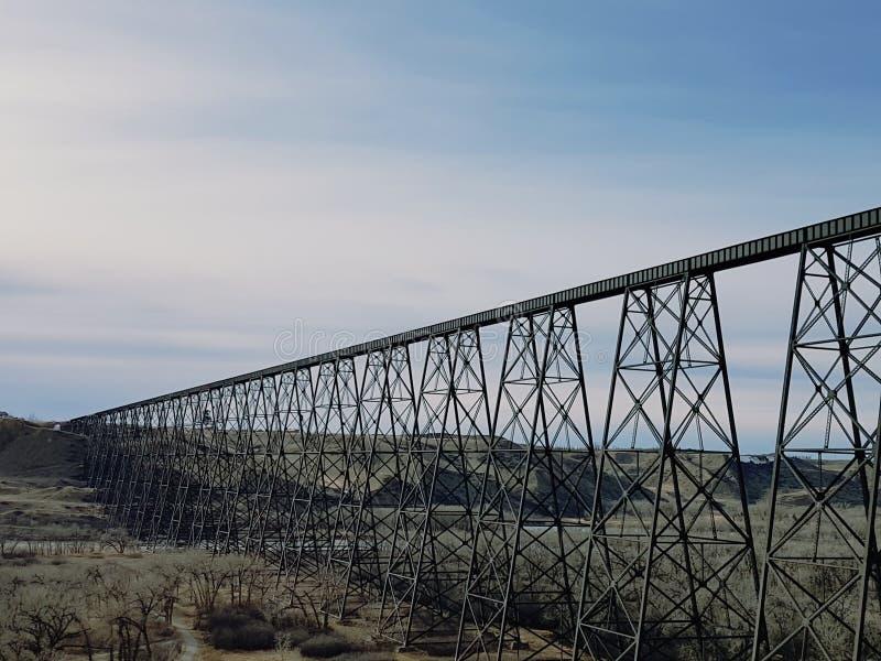高级桥梁莱斯布里奇,亚伯大 免版税库存照片