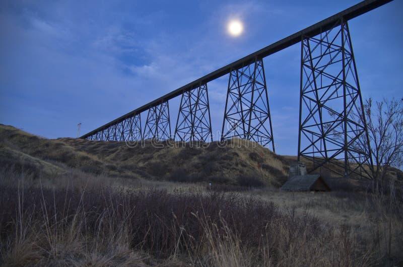 高级桥梁Lethbridge 免版税图库摄影