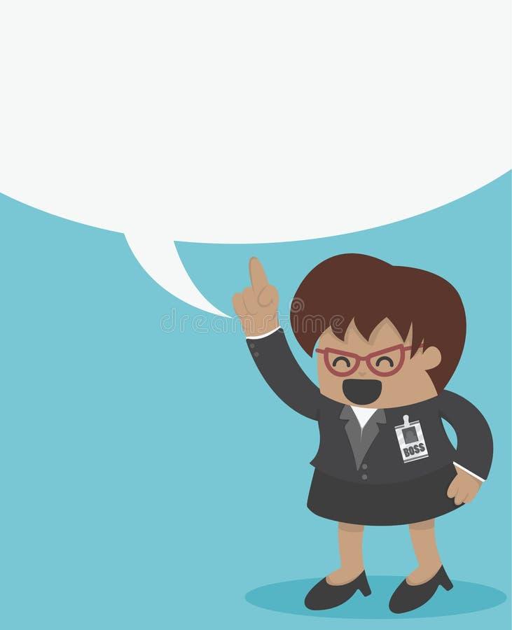 Download 高级领导有讲话泡影的女商人 向量例证. 插画 包括有 人们, 愉快, 通信, 空间, 白种人, 蓝色, 确信 - 62528100