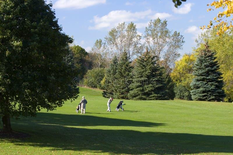 高级高尔夫球运动员 图库摄影