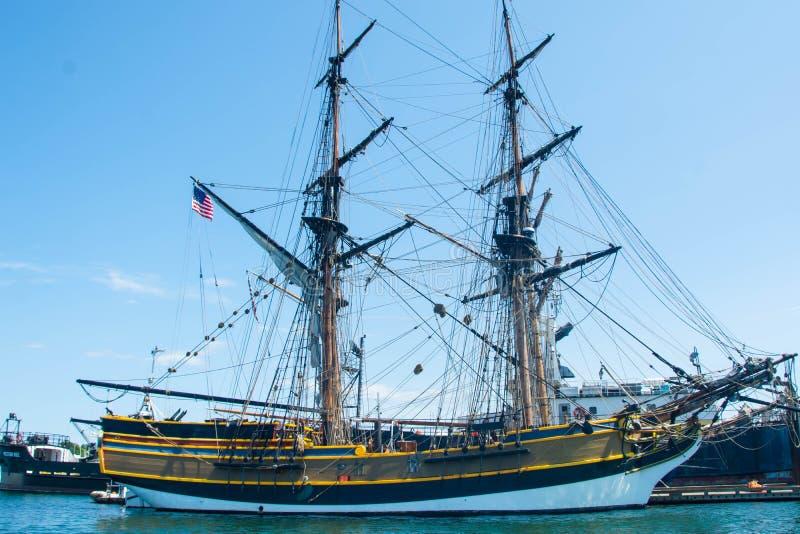 高船在港口 库存照片
