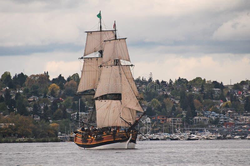 高船复制品,华盛顿夫人 库存照片